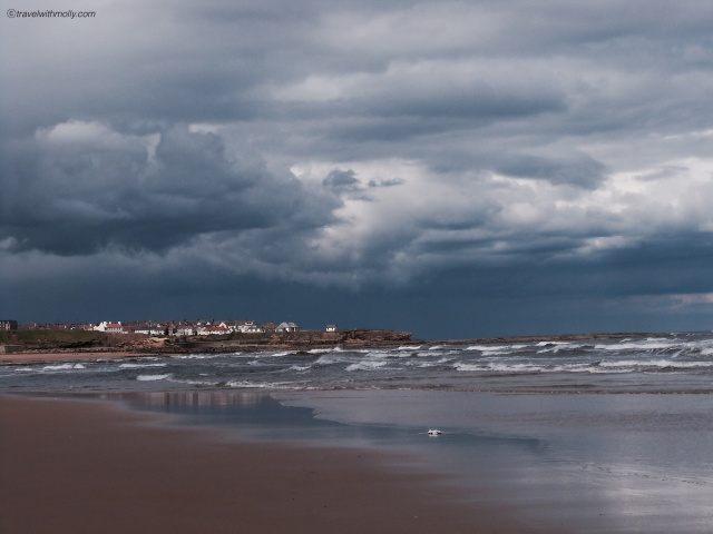 Storm clouds over Tynemouth Longsands